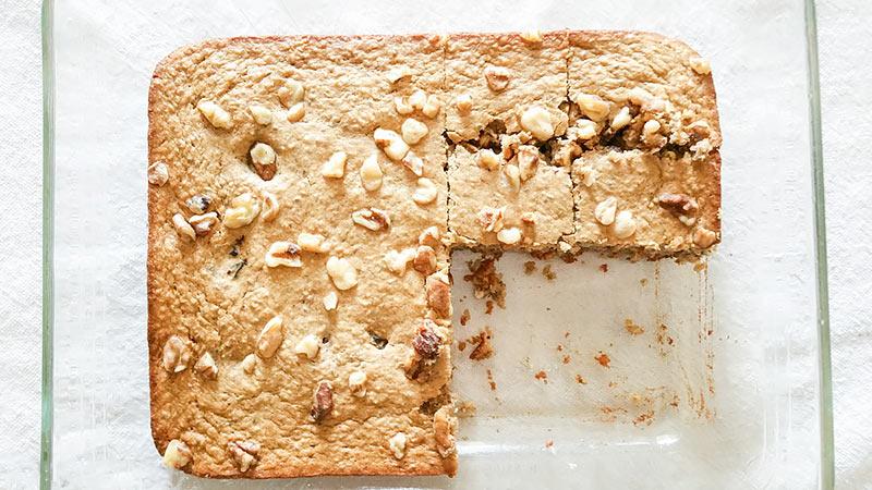 Healthy Peanut Butter Banana Breakfast Cake