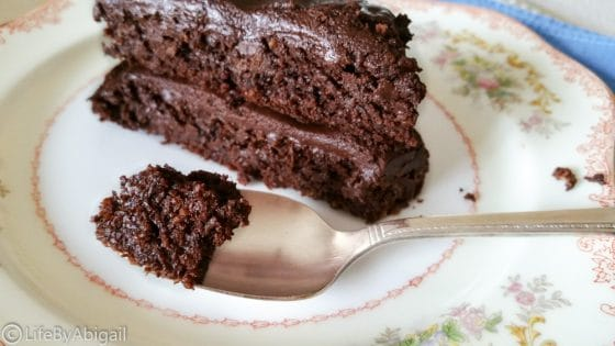 Healthy Dark Chocolate Fudge Cake and Frosting