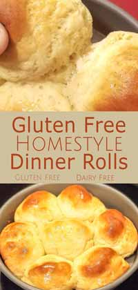 Gluten Free Homestyle Dinner Rolls Pin
