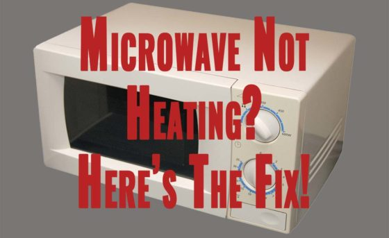Picture of Microwave with text overlay