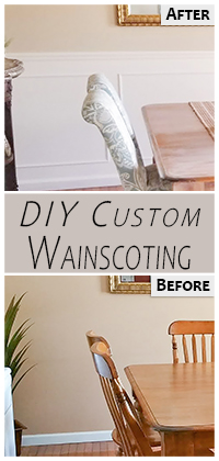 DIY Wainscoting Pinterest Pin